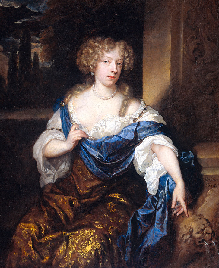 Женское платье в стиле барокко в портретах