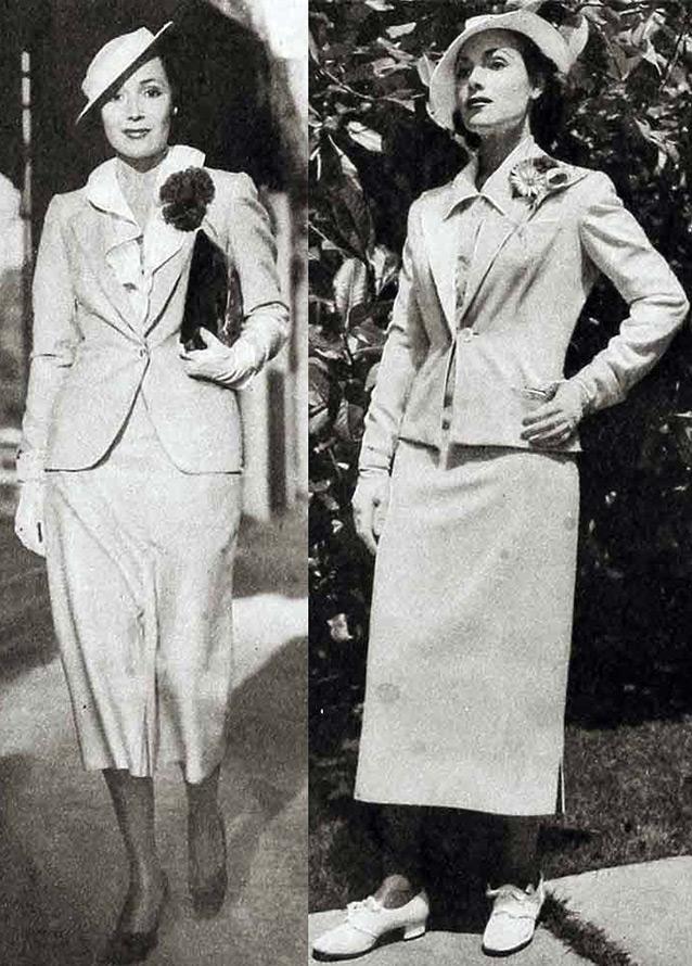 женские костюмы и аксессуары 1930 годов