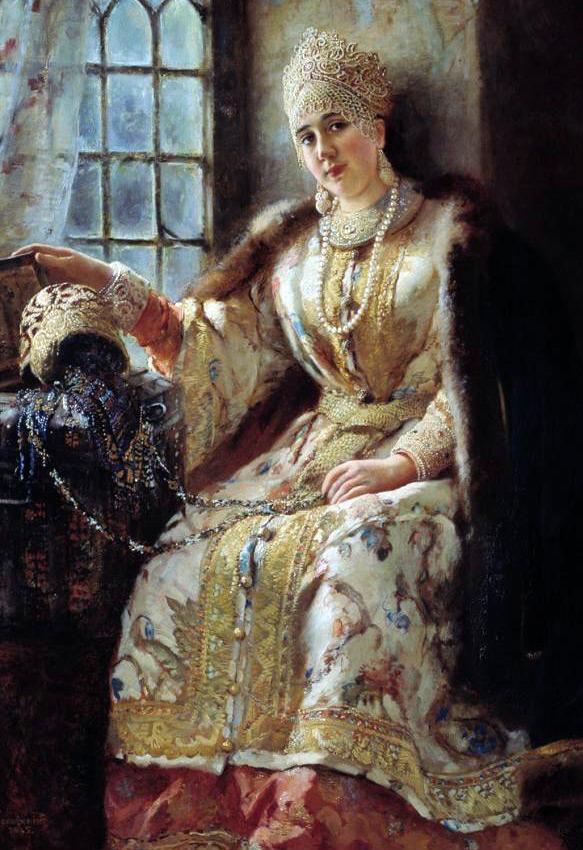 Русская красавица – картина