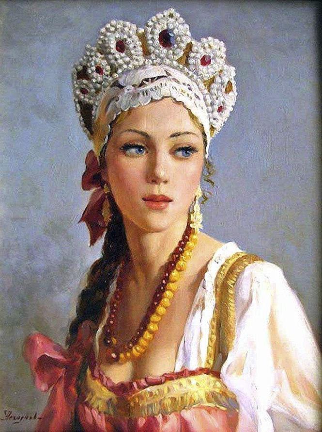 история фото русской красавицы с платком секс фото