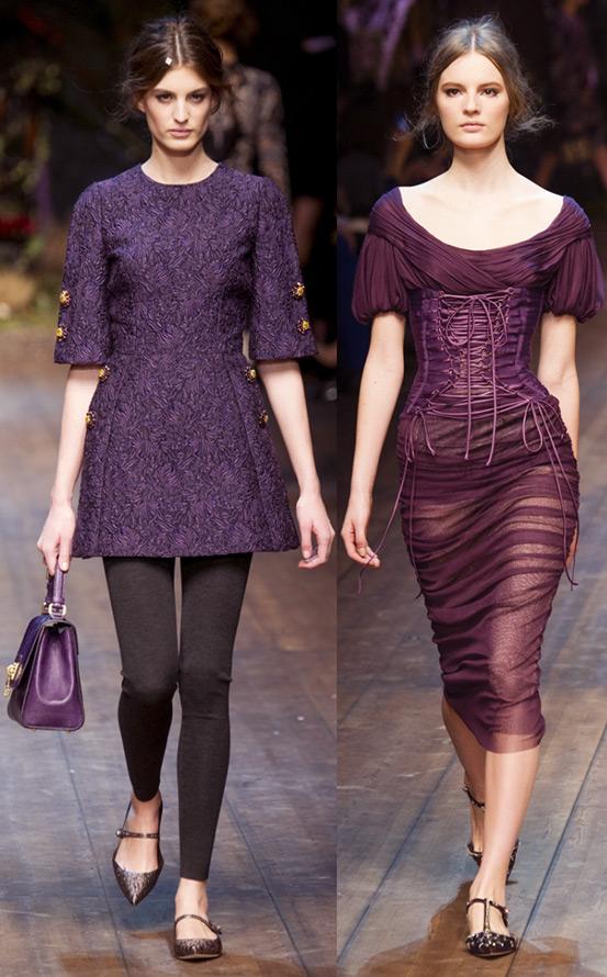Фиолетовые платья Dolce & Gabbana