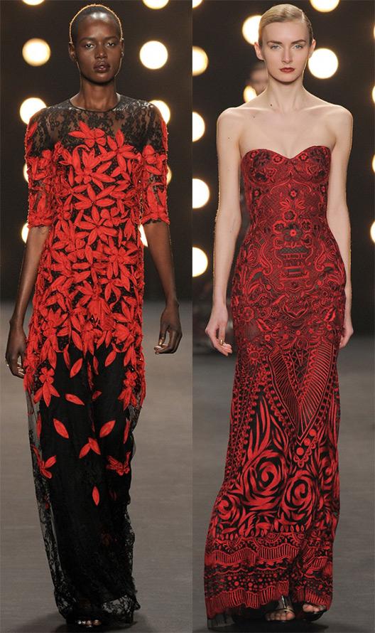 Красно-черные платья осень-зима 2014-2015