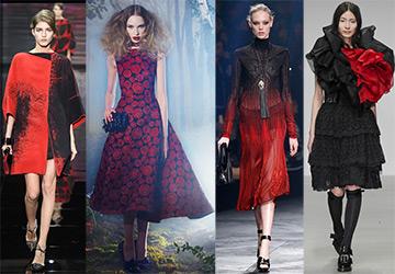 Красно-черные платья 14-15