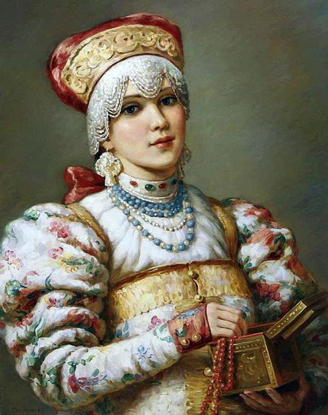 Картина – русская красавица