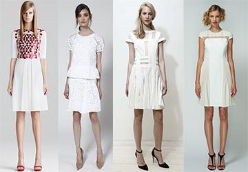 Белые платья Resort 2015