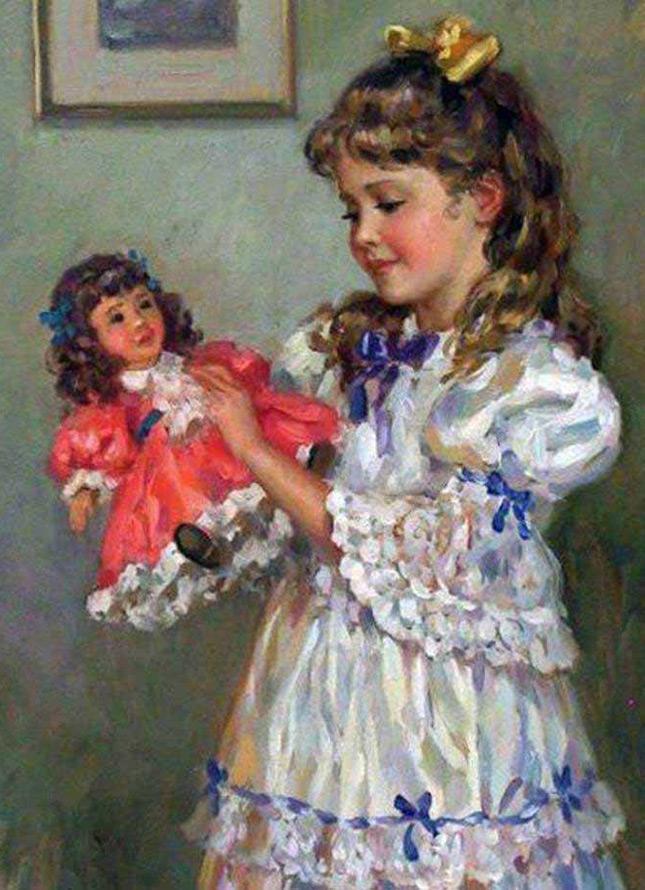 Картина Нагорнова – девочка