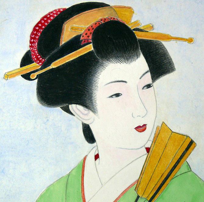 Японская женская прическа