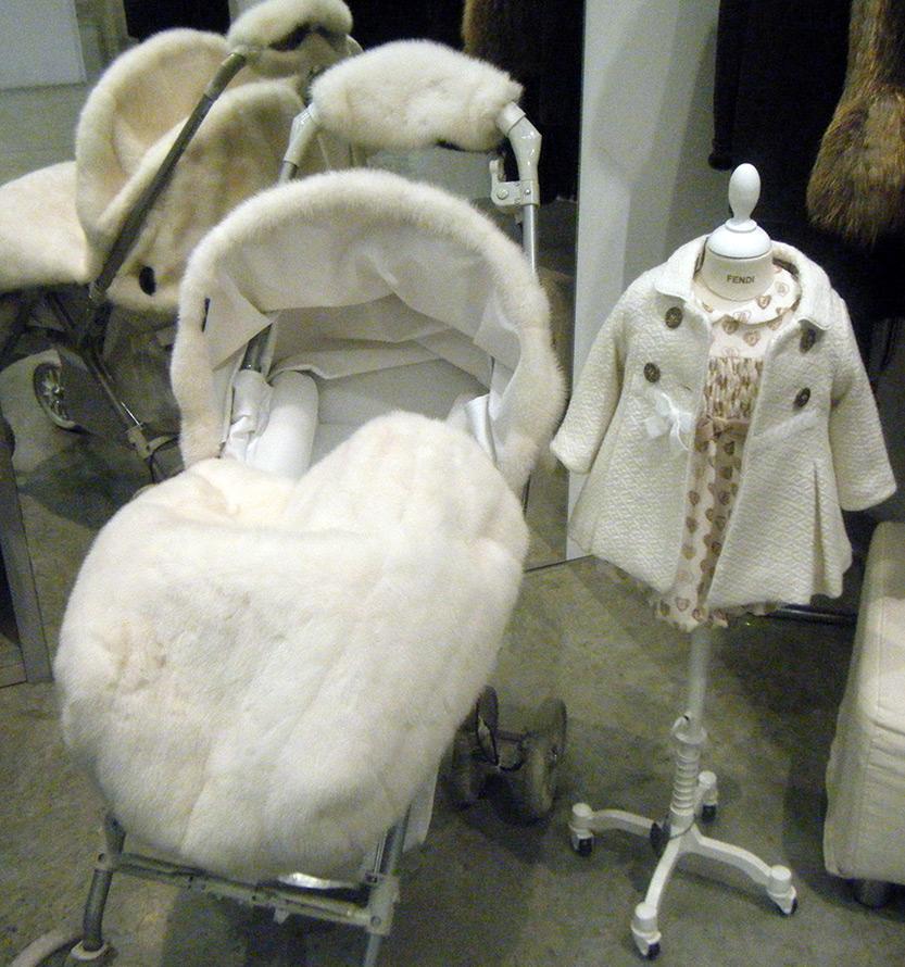 Меховые коляски для детей