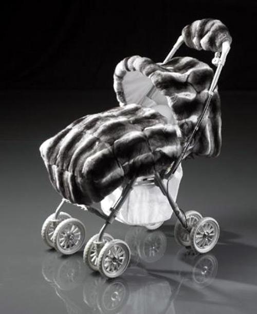 Меховая коляска из меха шиншиллы