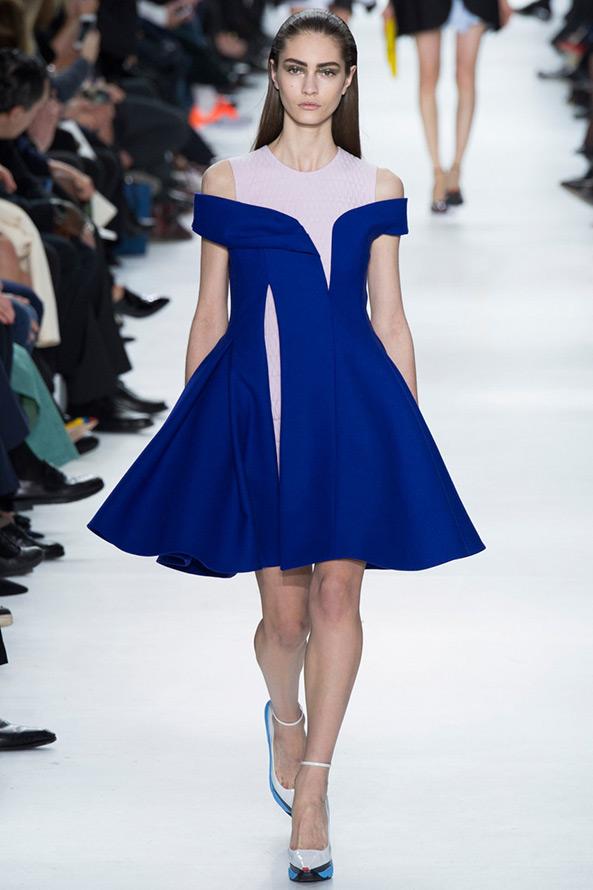 Платье синее диор