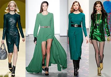 Зеленые платья 2014-2015