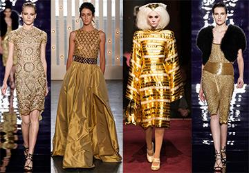 Золотые платья 2014-2015