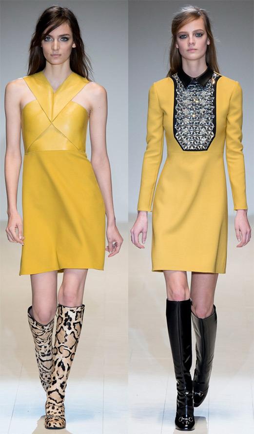 желтые платья 2014-2015