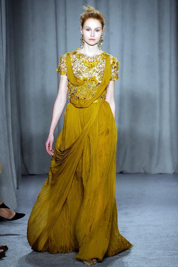 Marchesa платье осень-зима