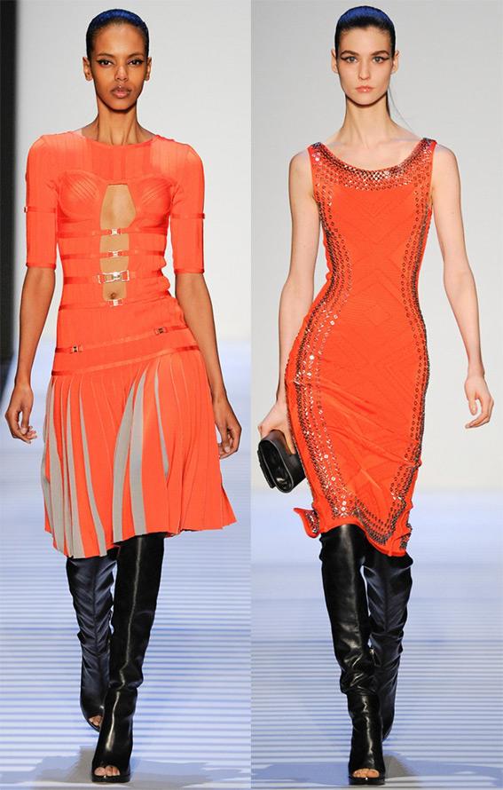оранжевые платья 2014-2015