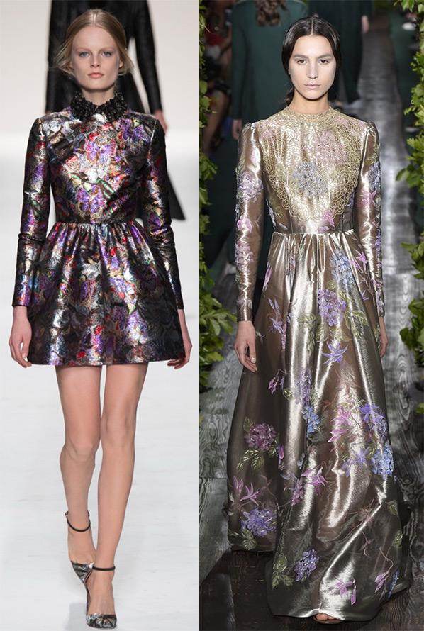 Блестящие платья – осень и зима