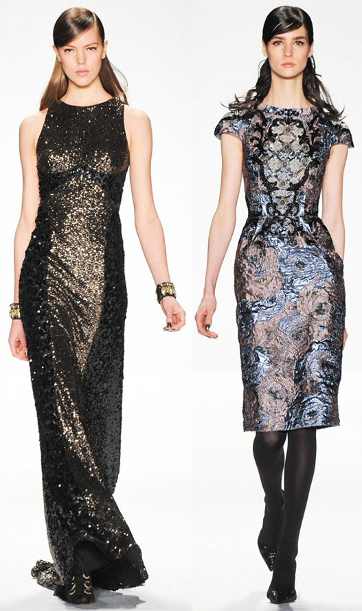 Красивые блестящие платья Badgley Mischka