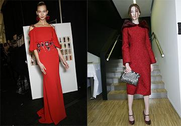 Красные платья из коллекций 14-15