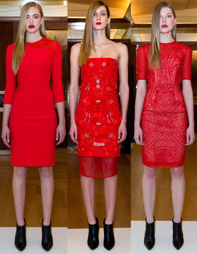Платья красные