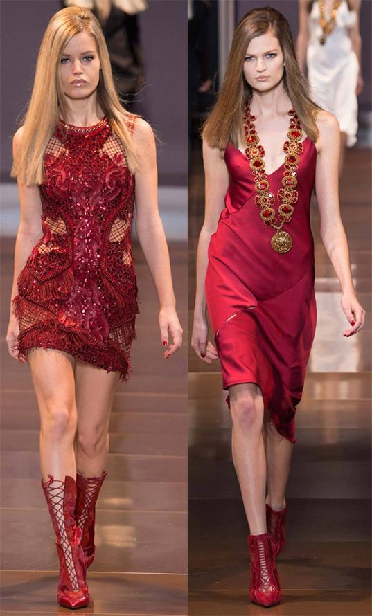 Красные платья осень-зима 2014-2015