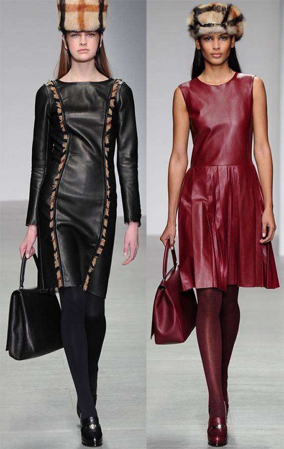 Новые кожаные платья
