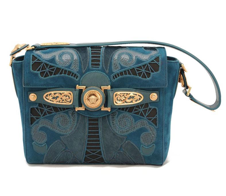 Сумка Versace синего цвета