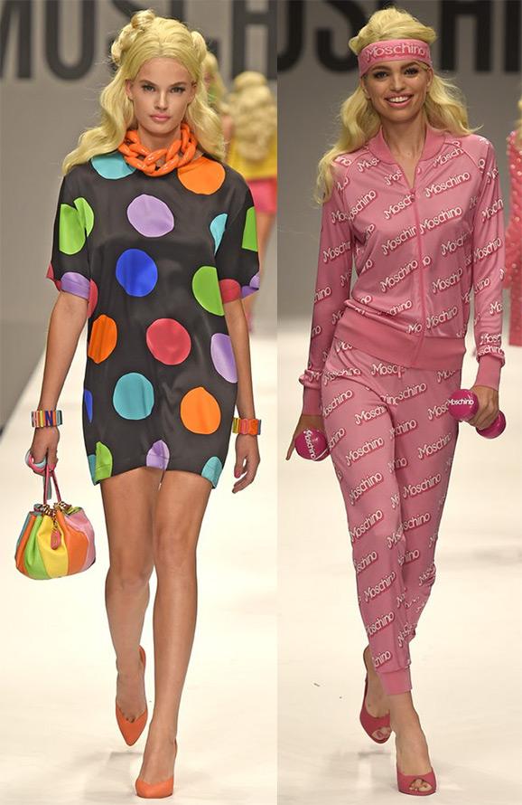 Коллекция Moschino для девочек в стиле Барби
