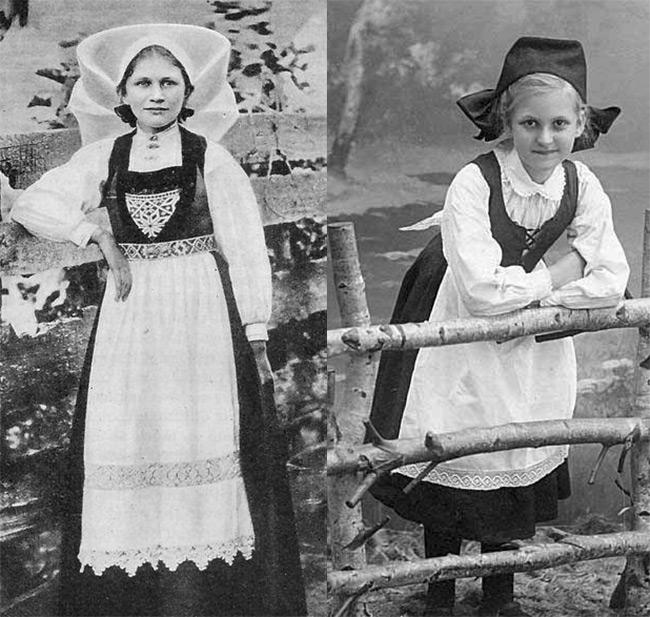 Норвежский женский костюм