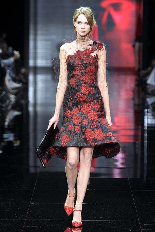 Armani Prive платье с цветами