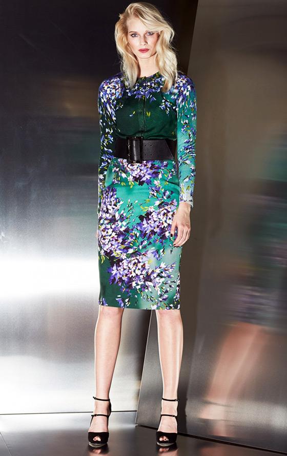 Escada платье с цветами