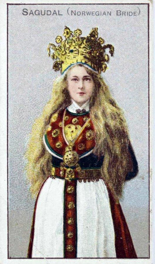 Свадебный наряд норвежской девушки