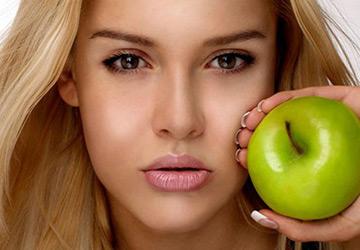 Яблочные омолаживающие маски