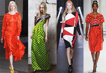 Лучшие Яркие платья на осень и зиму