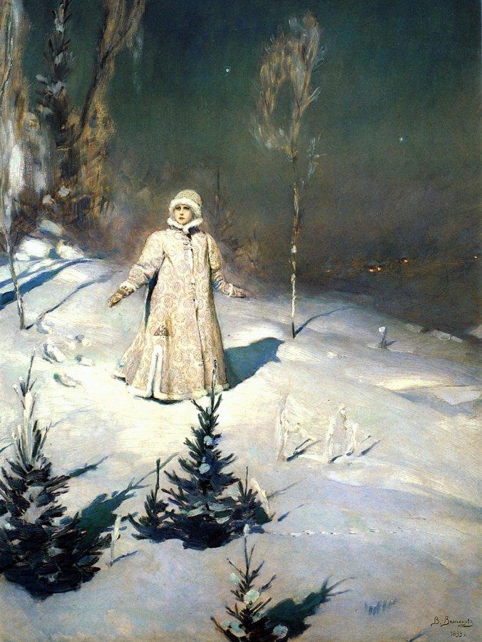 Снегурочка на картине Васнецова