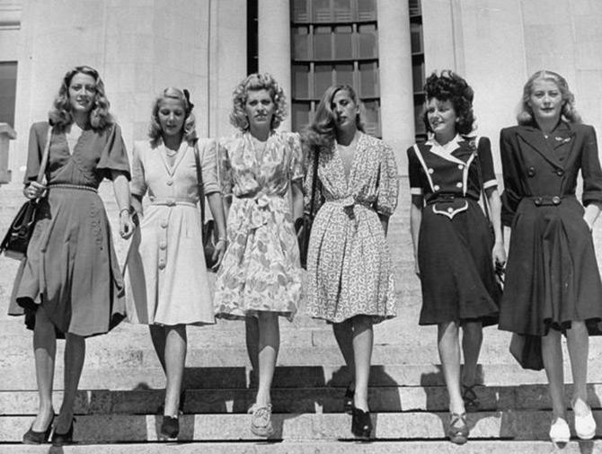 Мода и стиль времен Второй мировой войны