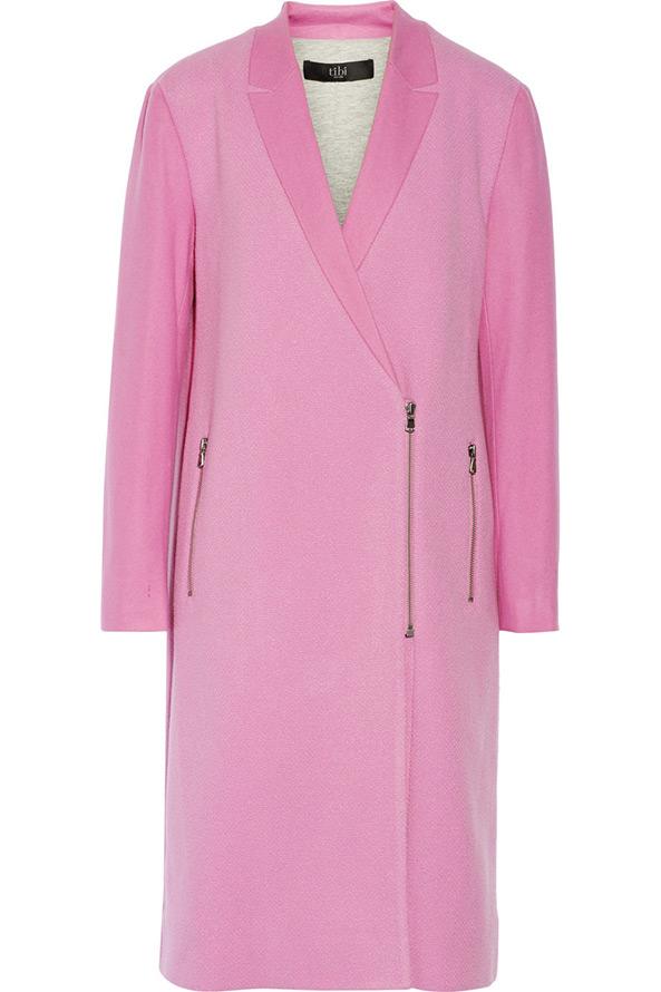 Розовое пальто 2014-2015