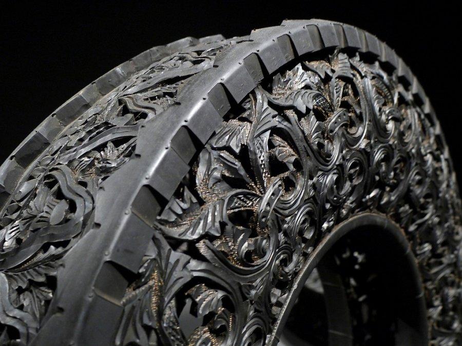 Резьба по автомобильным шинам