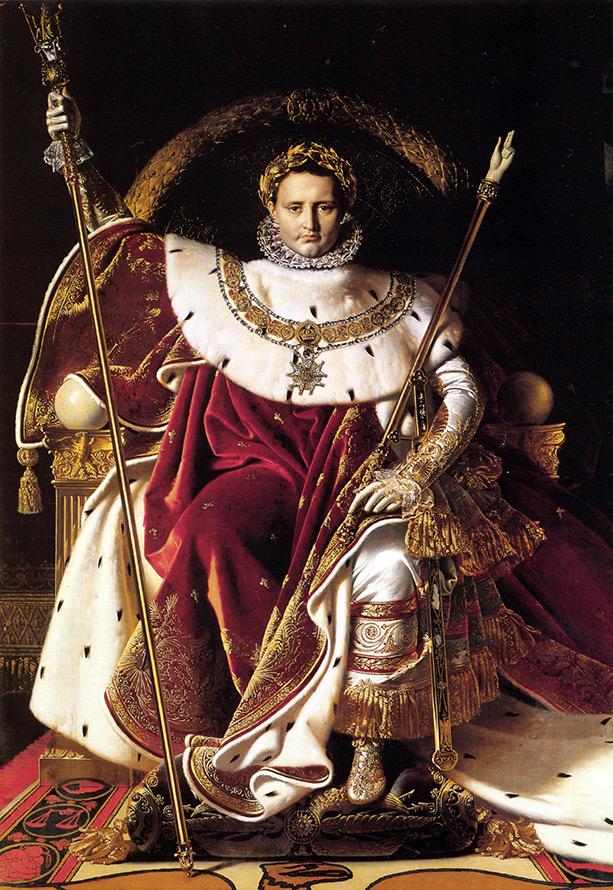 Наполеон на императорском троне