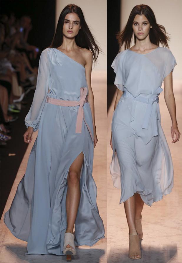 Голубые платья весна-лето 2015