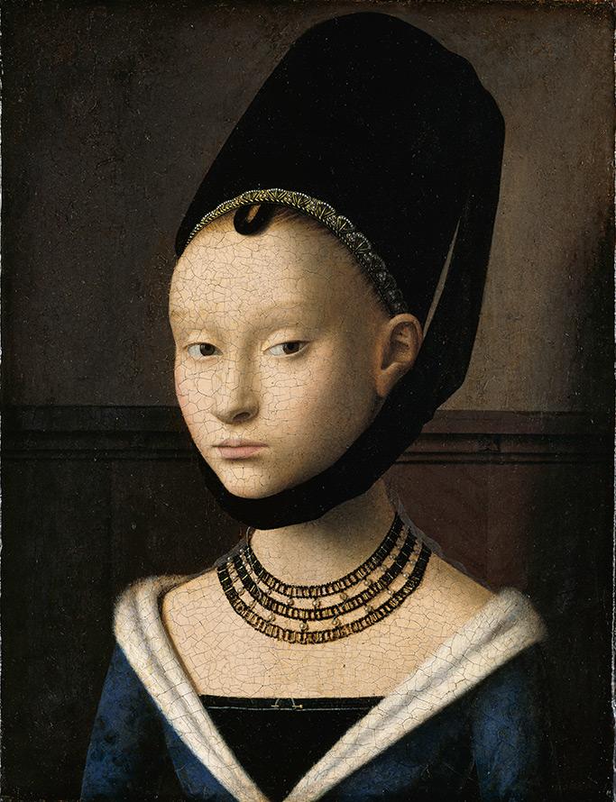 Портрет, женщина, украшения
