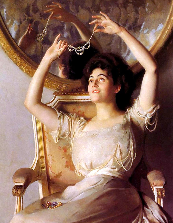 Портреты женщин с украшениями