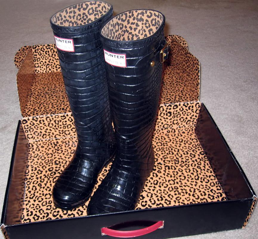 Модные резиновые сапоги для девушек