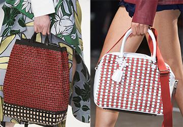 Модные сумки с переплетениями