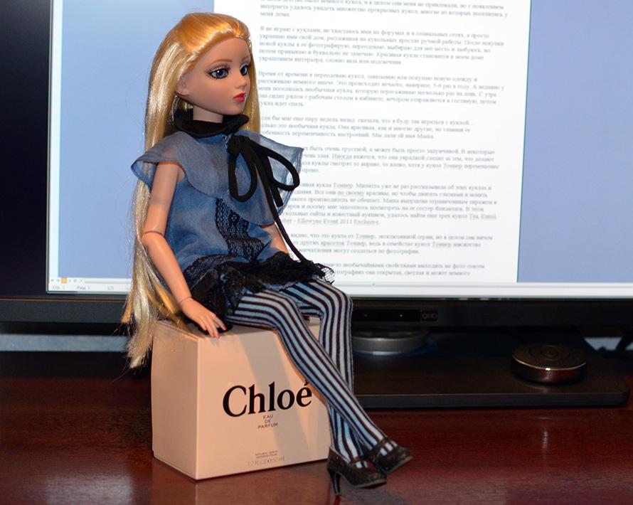 Красивая кукла с переменчивым настроением
