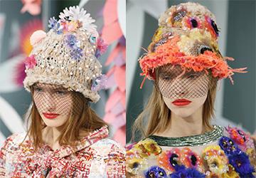 Шапки Chanel весна-лето 2015