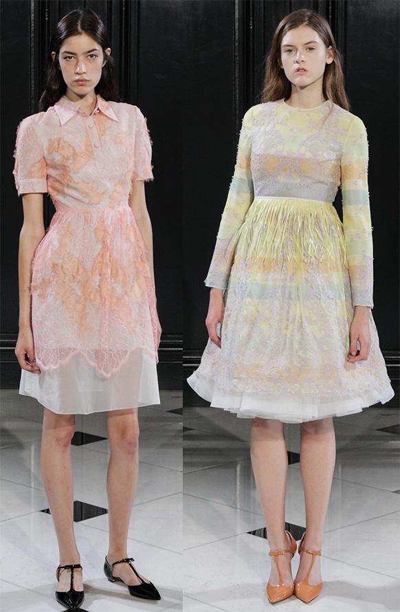 Закрытые платья весна-лето 2015