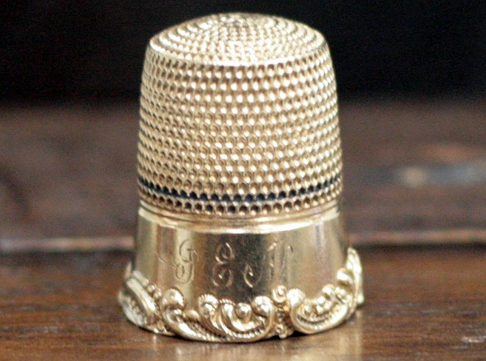 Наперсток из золота