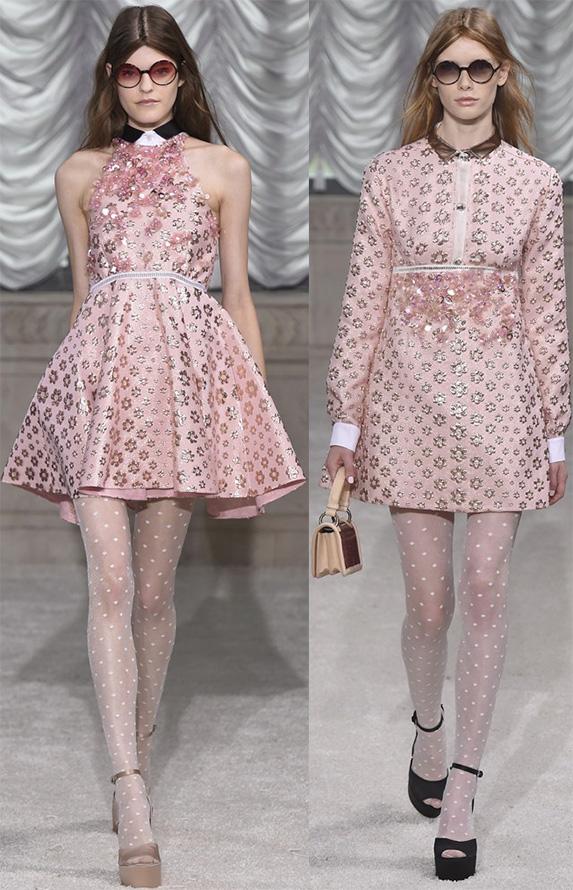 Розовые платья весна-лето 2015