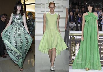 Самые красивые зеленые платья 2019