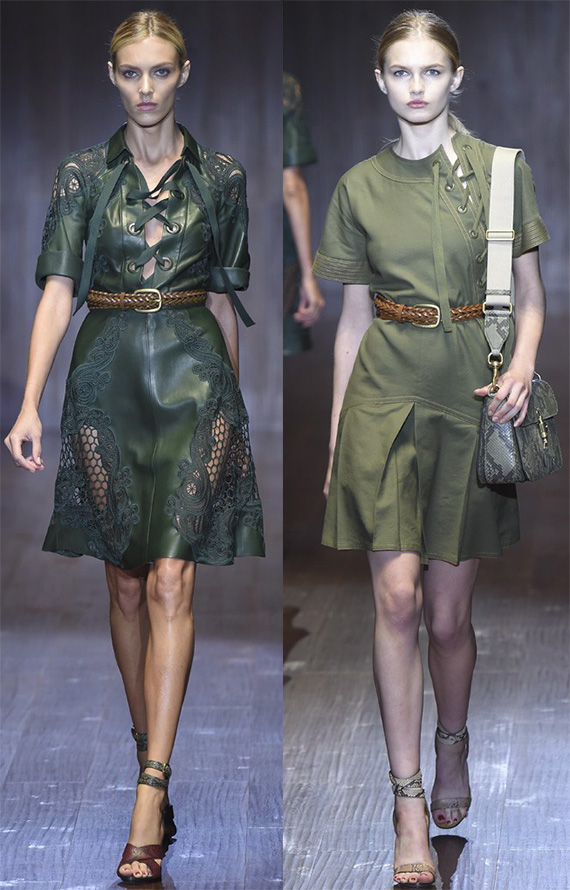 Самые красивые зеленые платья 2015